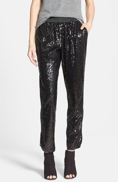 black sequin trouser