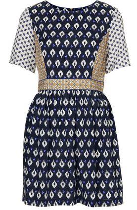 Ariana Madix Topshop mixed tile print dress