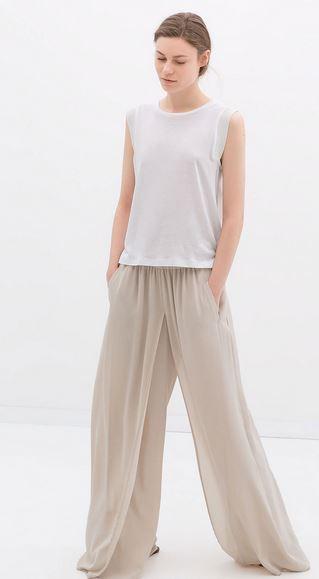 Zara wide leg trousers