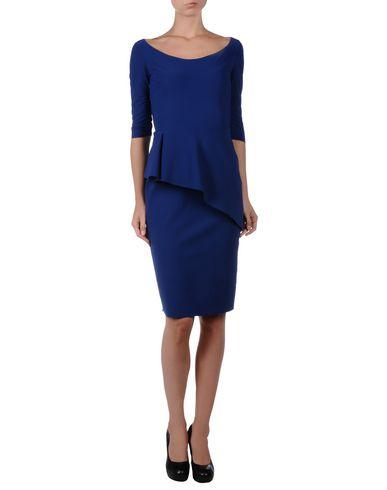 Blue 3/4 sleeve asymmetric peplum dress