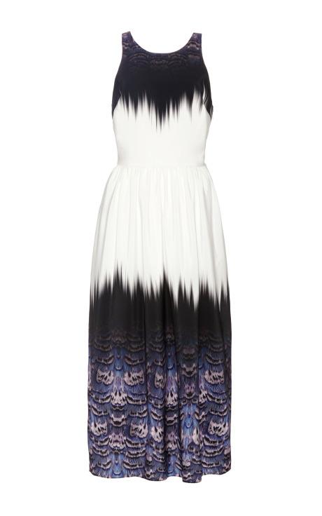 Tibi Dress Trompe L'Oeil Crossback Dress