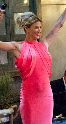 Brandi Glanville coral strappy dress