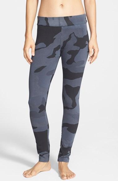 Grey Print Leg
