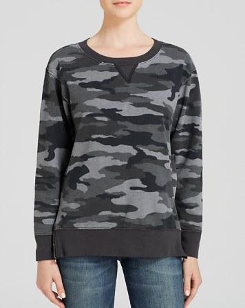 Current and Elliott camo sweatshirt