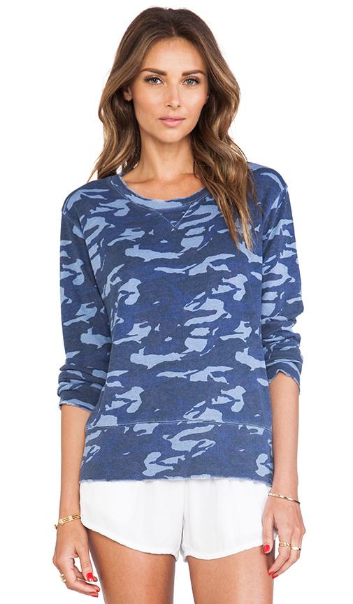 Blue camo print sweatshirt