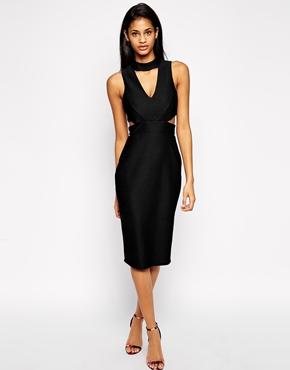 ASOS High Line Textured Midi Dress