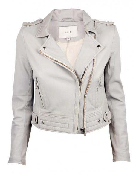 IRO Luiga Light Grey Leather Jacket
