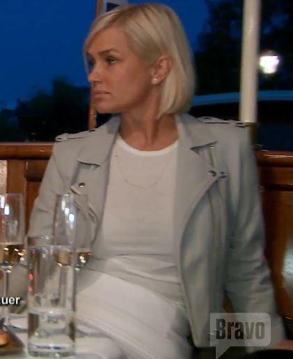 IRO Lugia Leather Jacket Light Grey