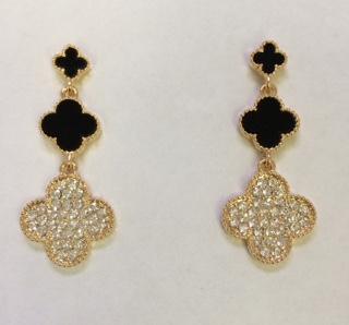 3 clover earrings