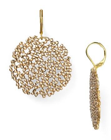 gold filgaree crystal earrings