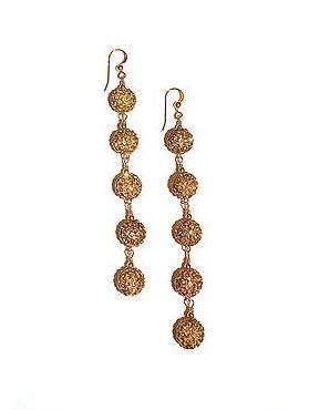 5 star crystal pave earrings