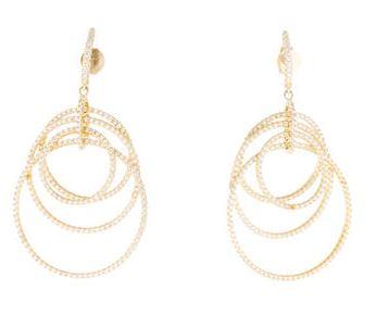 Angelique de Paris Pave circle earrings