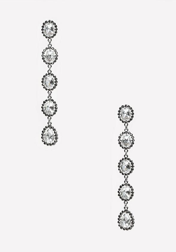 Venus fly trap crystal dangle earrings
