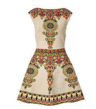 Valentino Intarsia Fit and Flare Dress