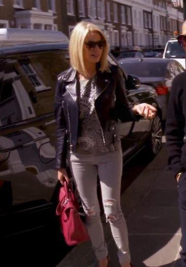 Caroline stanbury saint laurent leather jacket