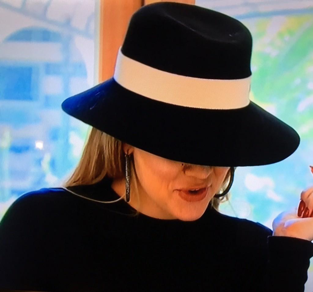 Khloe Kardashian wearing Masion Michel Hats