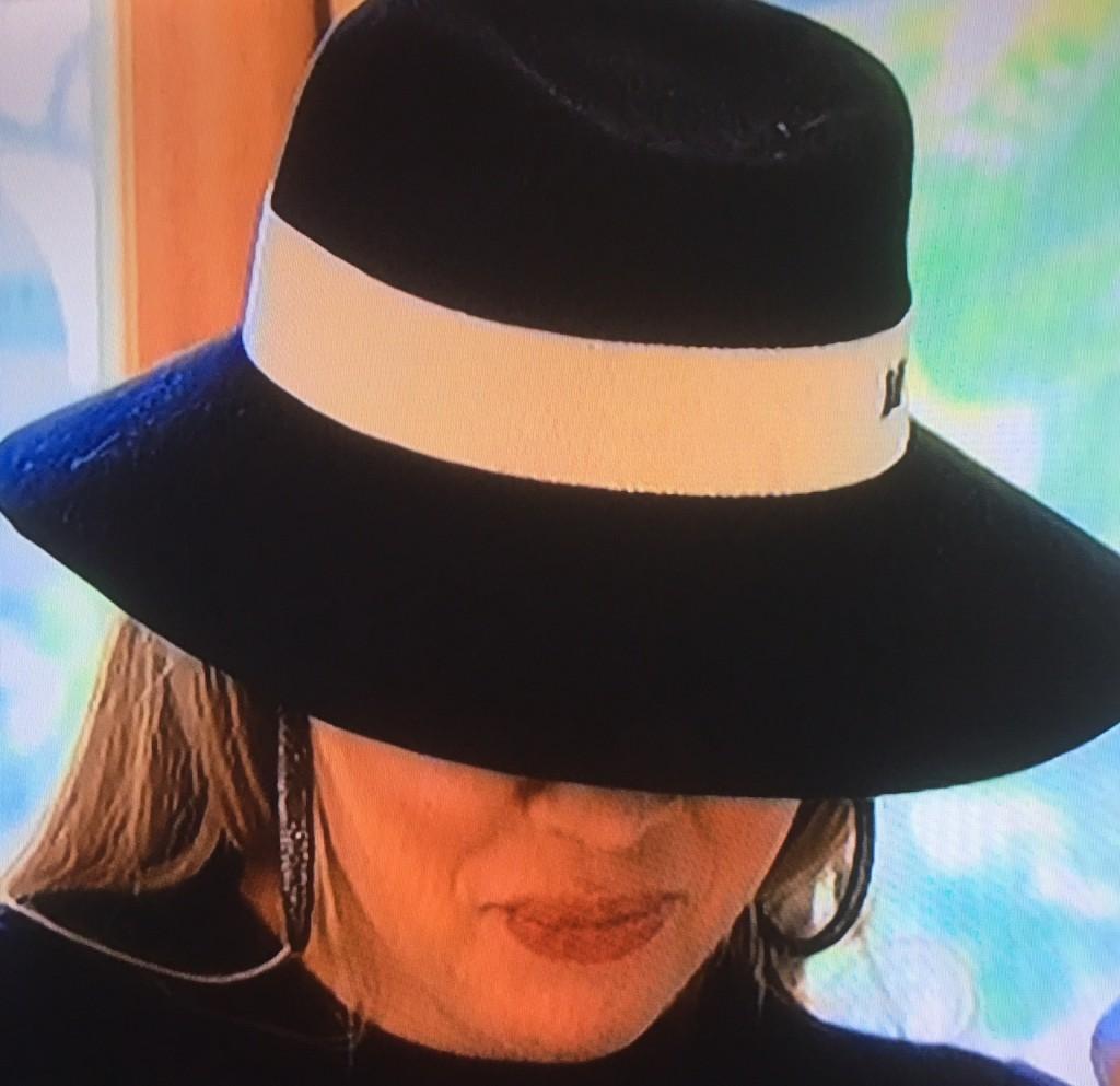 Khloe Kardashian wearing a Maison Michel hat