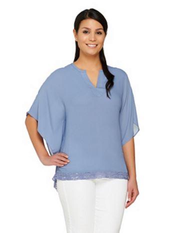 Lisa Rinna's Lavendar & Blue Kimono Tops