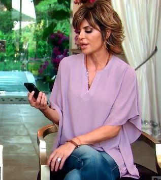 Lisa Vanderpump's Lavendar Kimono Top at Lisa Vanderpump's House