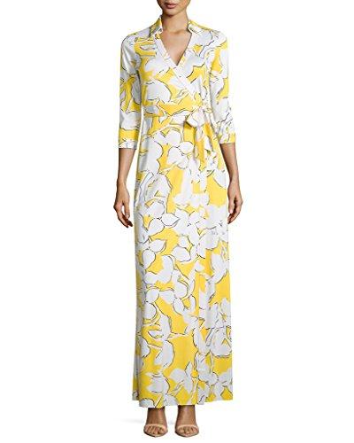 Real Housewives of Potomac Fashion: Karen Huger's Yellow Printed Maxi Dress