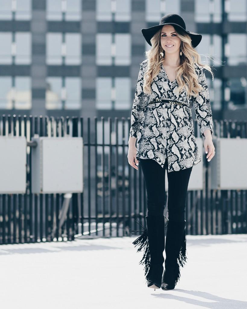 Nordstrom Missguided Snake Print Shirt Dress