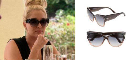 6ad67187a4c Tom ford Anoushka Ft0371 01b Black Cat Eye Sunglasses in Black