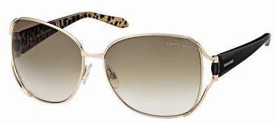 Kyle Richards' Gold Open Temple Sunglasses