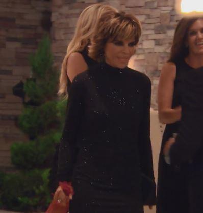 Lisa Rinna's Black Crystal EMbellished Dress