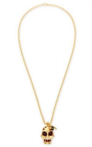 Alexander McQueen Bee Skull Necklace