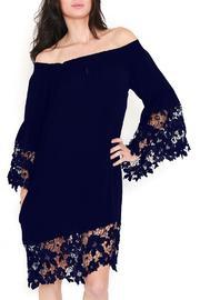 Muche et Muchette Black Lace Off the Shoulder Dress