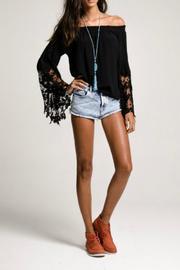 Muche et Muchette Black Lace Top Off the Shoulder