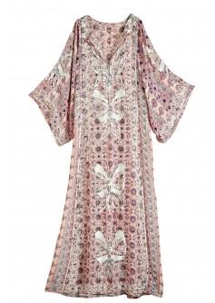 Calypso St Barth Brephi Embellished Silk Caftan