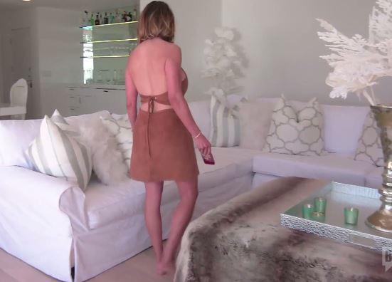 Kelly Dodds Suede Halter Dress