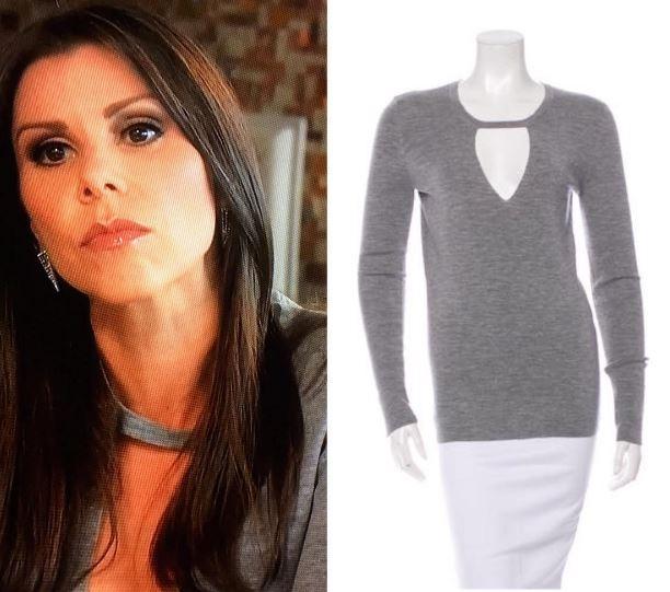 Heather Dubrow Grey Cutout Sweater