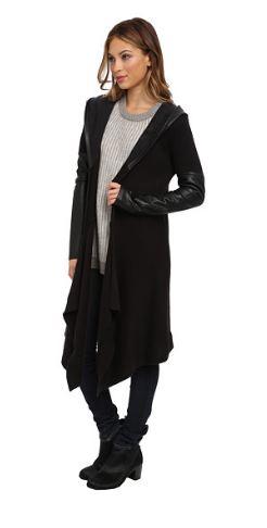blank-nyc-long-leather-trim-sweater-cardigan