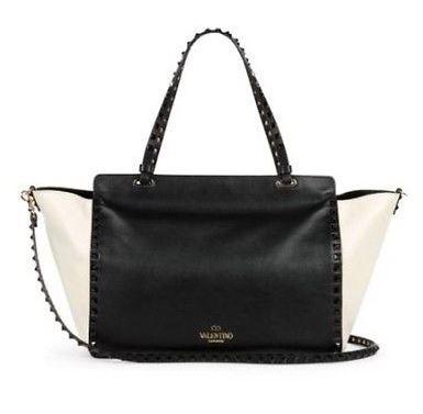 Black and white rockstud purse