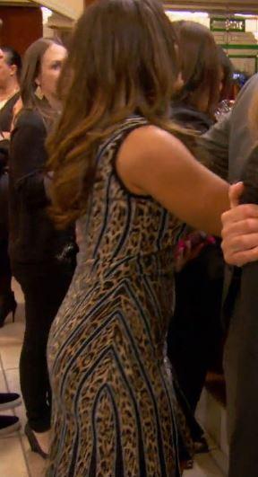 Dolores Catania Leopard Striped Dress