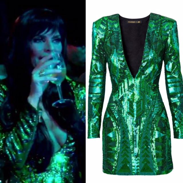 Lisa Rinna's Green Sequin Dress
