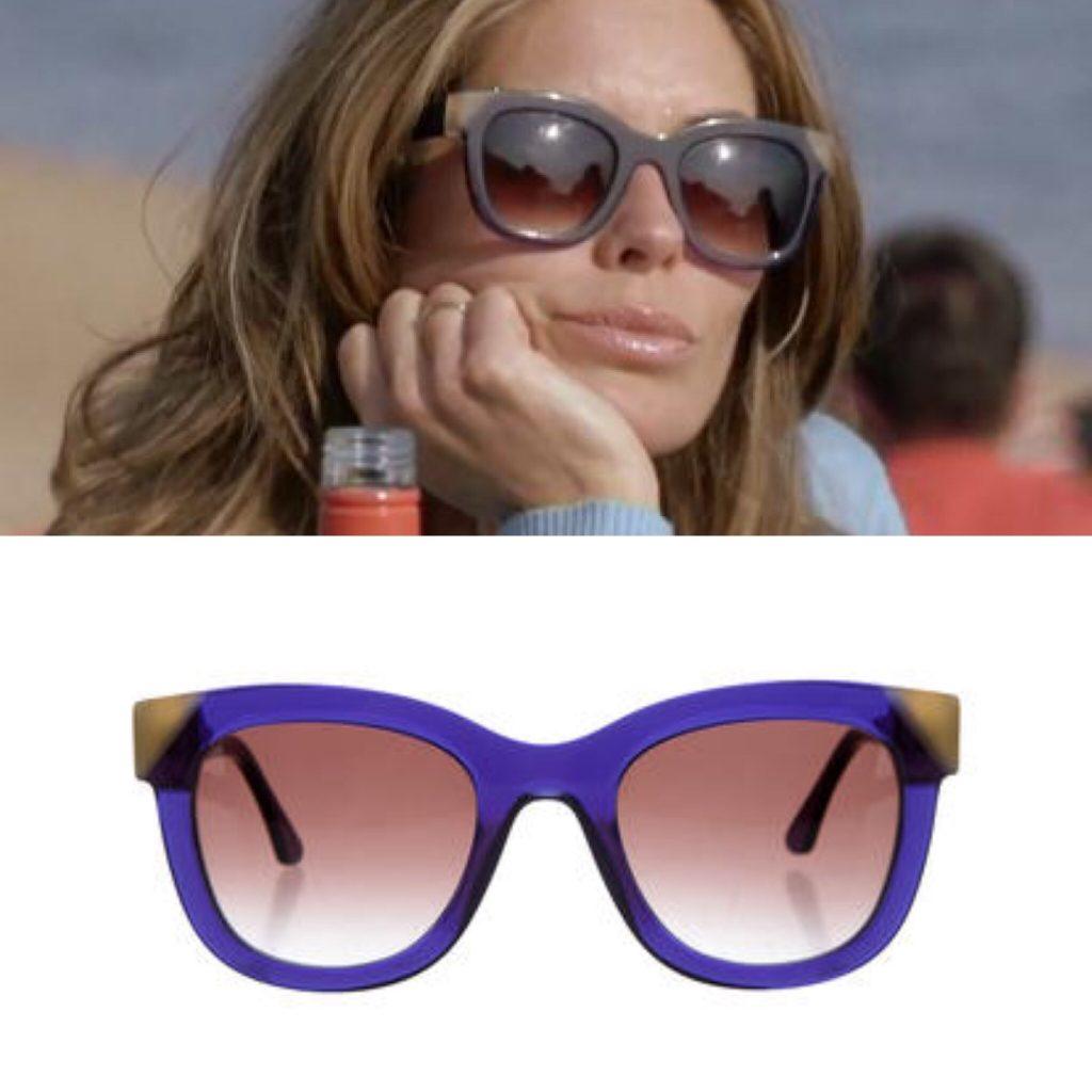 purple contrast corner sunglasses