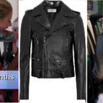 Dorit Kemsley's Black Leather Moto Jacket
