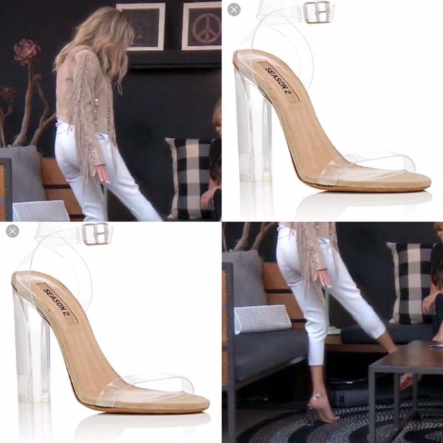 Dorit Kemsley's Clear Heel Sandals