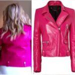 Dorit Kemsley's Hot Pink Fuschia Leather Moto Jacket
