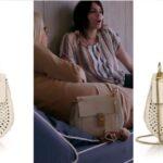 Stassi Schroeder's White Perforated Chloe Drew Crossbody Bag