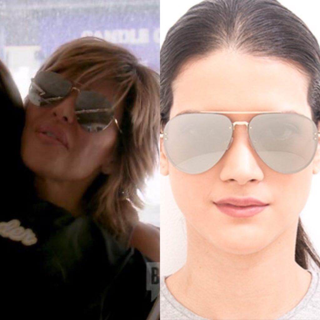 Lisa Rinna's Silver Mirrored Aviator Sunglasses