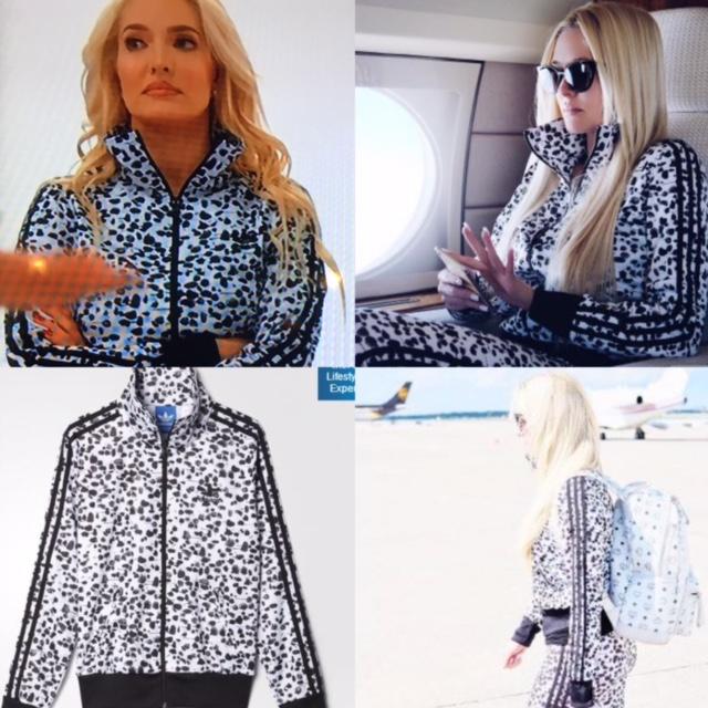 Erika Girardis Black And White Printed Adidas Jacket