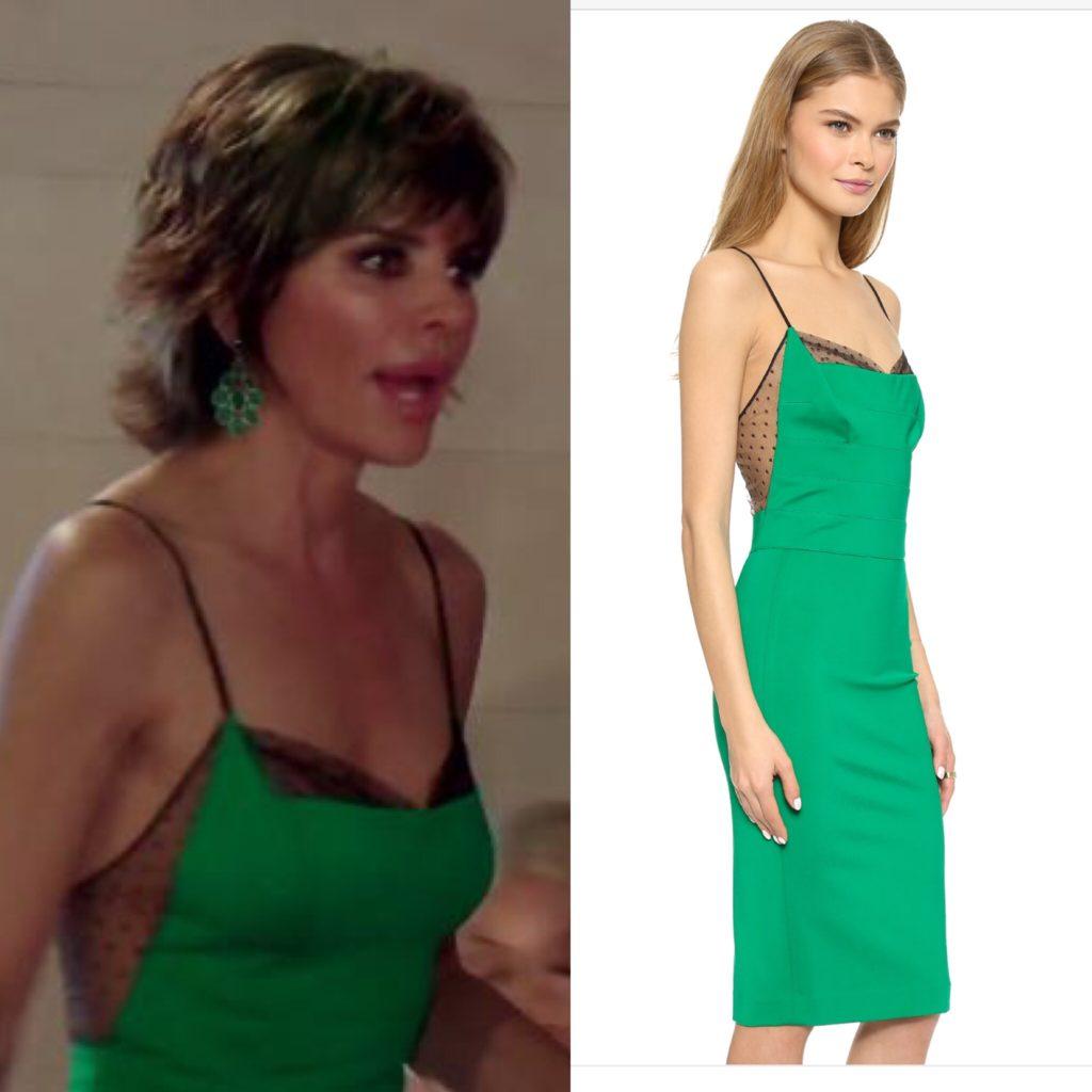 Lisa Rinna's Green Dress with Black Mesh