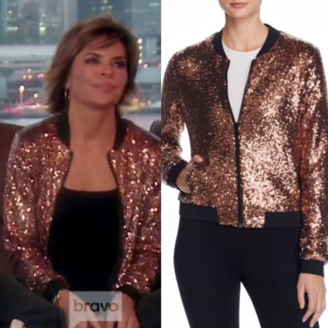 Lisa Rinna's Gold Sequin Bomber Jacket