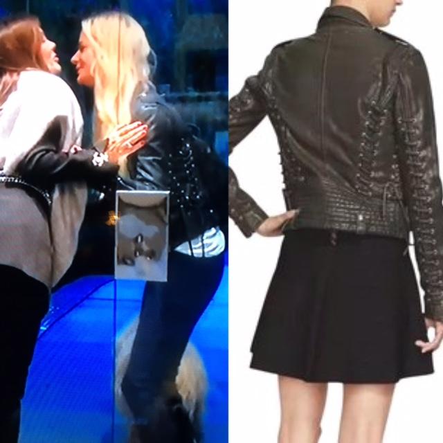 Dorit Kemsley's Lace Up Leather Jacket