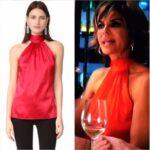 Lisa Rinna's Red Silk Halter Top