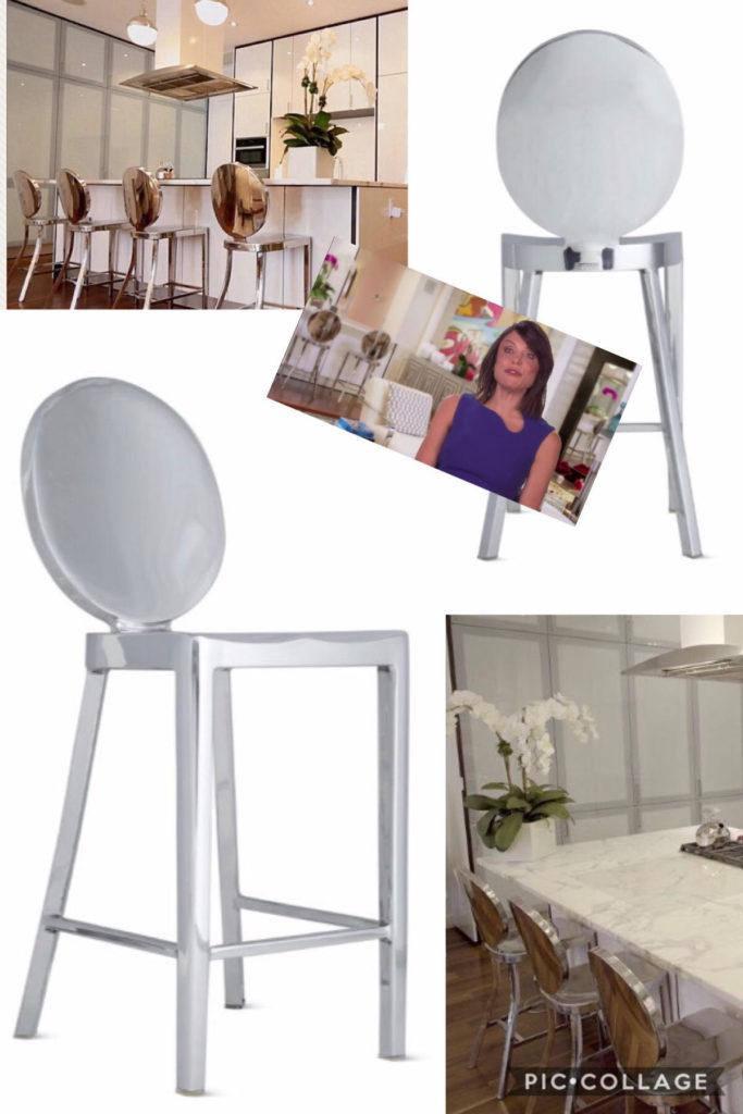 Betheny Frankel's Mirrored Kitchen Bar Stools
